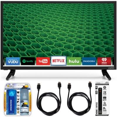 D24-D1 D-Series 24` Class Edge-Lit LED Smart TV Essential Accessory Bundle