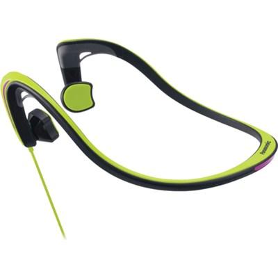 Open-Ear Bone Conduction Headphones with Reflective Design, Green - OPEN BOX