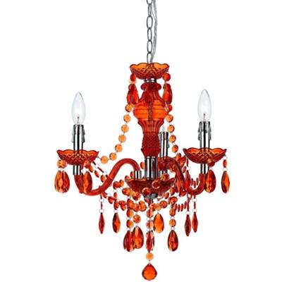 Fulton Mini Chandelier in Orange - 8500-3H