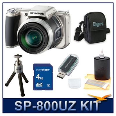 SP-800UZ 14 Megapixel 30x Zoom Digital Camera w/ 8 GB Memory Kit