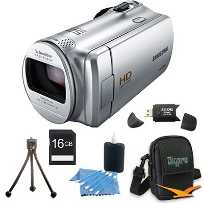 HMX-F80SN HD Flash Memory Camcorder (Silver) With 16GB Memory and More
