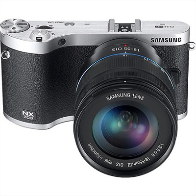 NX300 Mirrorless Digital Cam. w/20-50mm F/3.5-5.6 ED II Lens (Black) - OPEN BOX