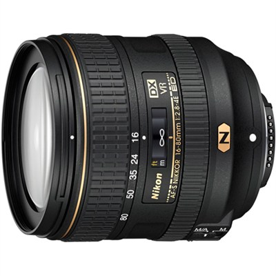 AF-S DX NIKKOR 16-80mm f/2.8-4E ED VR Lens for Nikon Digital SLRs (20055)