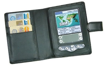 Deluxe Leather Case For Palm M515 PDA