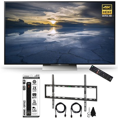 XBR-65X930D 65-Inch Class 4K HDR Ultra HD TV Flat Wall Mount Bundle