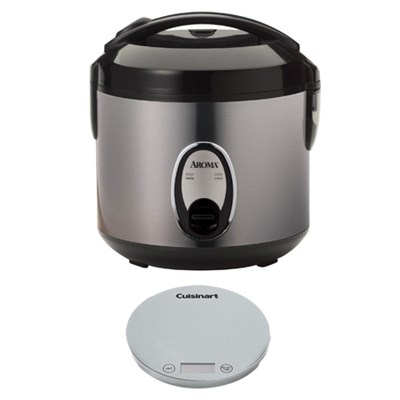 8-Cup Rice Cooker w/ Cuisinart Digital Kitchen Scale