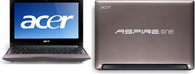 Aspire One AOD255E Series Netbook Computer - Sandstone Intel Atom N455 Processor