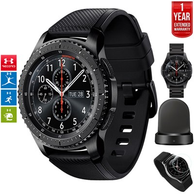 Gear S3 Frontier Bluetooth GPS Watch Gray + Charger Bundle + Extended Warranty
