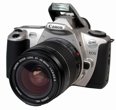 EOS REBEL 2000  EF 28-80MMII BODY AND LENS KIT AND USA WARRANTY