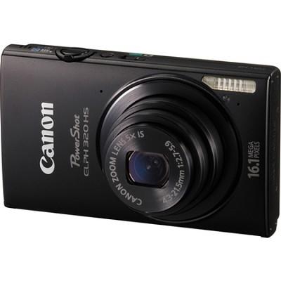 PowerShot ELPH 320 HS 16MP Black Digital Camera 5x Optical Zoom 3 inch Touch LCD
