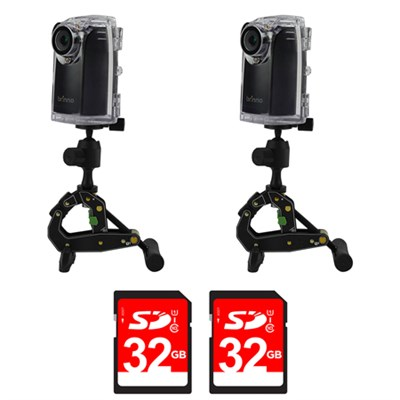 2-Pack BCC200 Time Lapse HD Video Camera w/ 2-Pack 32GB Memory Card
