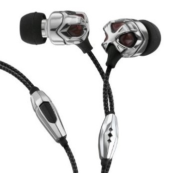 Vibe II Earbuds for iPhone With Click Mic - Chrome Rouge
