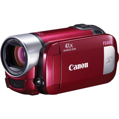 FS400 SD Flash Memory Red Camcorder