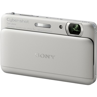 Cyber-shot DSC-TX55 Silver Slim Digital Camera w/ 3.3` OLED Touchscreen