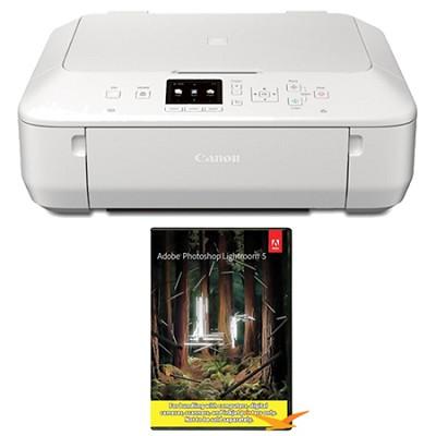 PIXMA MG5520 Wireless Inkjet Photo All-in-One - White w/ Photoshop Lightroom 5