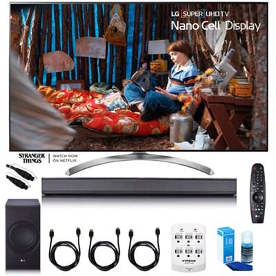 SUPER UHD 55` 4K HDR Smart LED TV - 55SJ8500 w/LG SJ8 Sound Bar Bundle