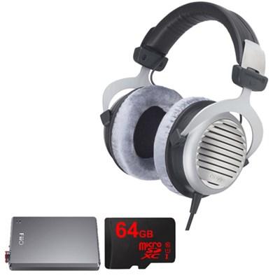 DT 990 Premium Headphones 600 OHM w/ FiiO A5 Amplifier Bundle