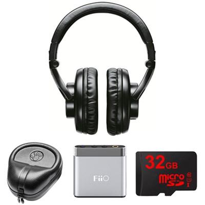 Professional Studio Headphones (Black) - SRH440 w/ FiiO Amp. Bundle