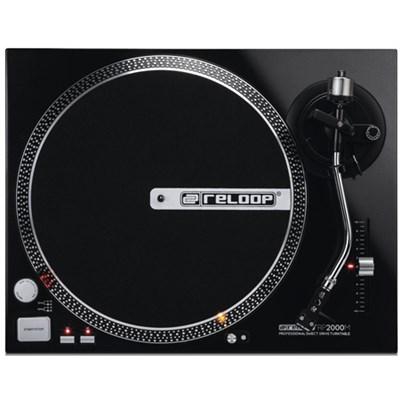 RP-2000-M DJ Turntable with Quartz Driven Direct Drive, Metallic Black