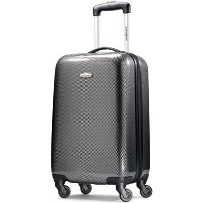 Winfield Fashion Lightweight 20` Hardside Spinner Luggage - Black/Silver