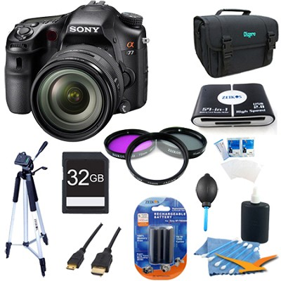 SLTA77VQ - a77 Digital SLR 24.3 MP with 16-50mm Zoom Lens Plus Bundle