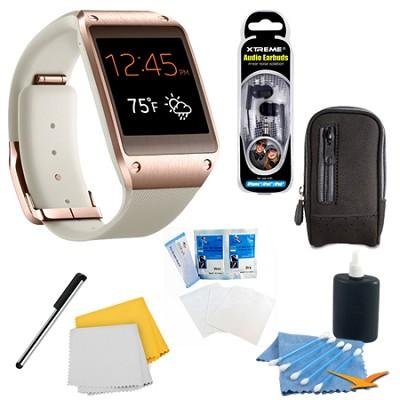 Rose Gold Galaxy Gear Smartwatch Accessory Bundle