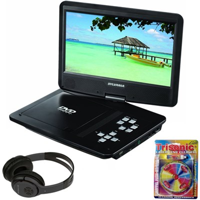 10-Inch Portable DVD Player with Bluetooth Headphones Bundle