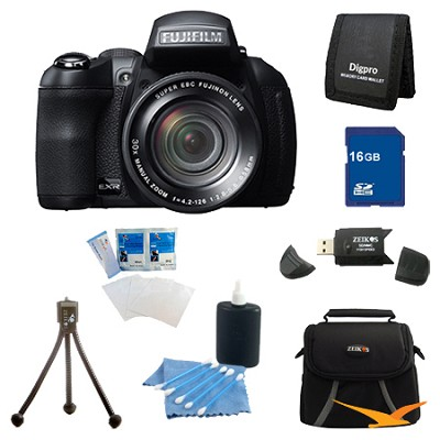 FinePix HS30EXR 16MP BSI EXR CMOS Digital Camera 16 GB Bundle
