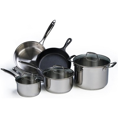 Stainless Steel Cookware Set - 8 pieces