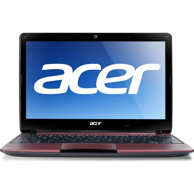 Aspire One AO722-0474 11.6` Netbook PC (Red) - AMD Dual-Core C-60 Accel. Proc.