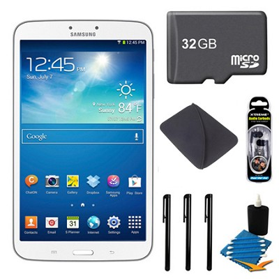 Galaxy Tab 3 (8-Inch, White) Bundle Deal with 32GB MicroSD Memory Card and More