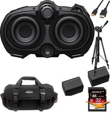 DEV3 - Digital Recording Binoculars  HD Video 10x Optical Zoom Traveler's Bundle