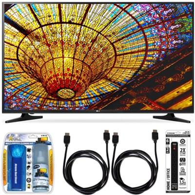 65UH5500 - 65-Inch 4K Ultra HD Smart LED TV w/ webOS 3.0 Accessory Bundle