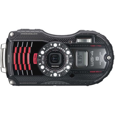 WG-4 GPS 16MP HD 1080p Waterproof Digital Camera - Black - OPEN BOX