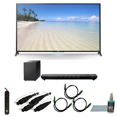 KDL60W850B - 60-Inch 1080p 120Hz Smart 3D LED HDTV Motionflow XR 480 Wifi Bundle