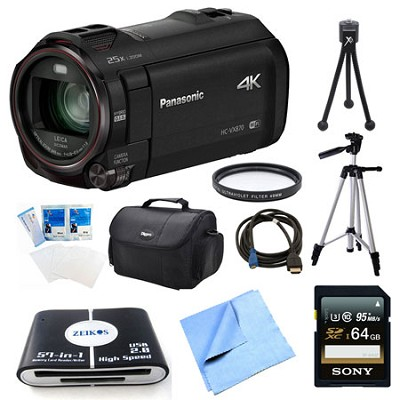 HC-VX870K 4K Ultra HD Camcorder 64GB Bundle