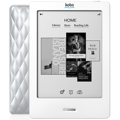 6 Inch Touch eReader w/ SVGA Display (White/Silver)(N905-KBO-S)