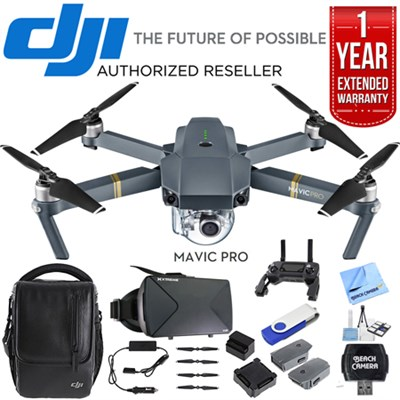 Mavic Pro 4K Camera Quadcopter Drone Fly More Combo Pack w/ Ultimate Bundle