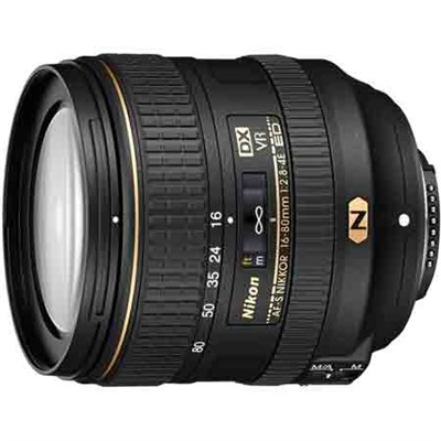 AF-S DX NIKKOR 16-80mm f/2.8-4E ED VR Lens for Nikon Digital SLRs (20055) REFURB