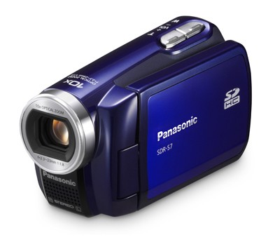 SDR-S7A SD Camcorder w/ 10x Optical Zoom (Blue)