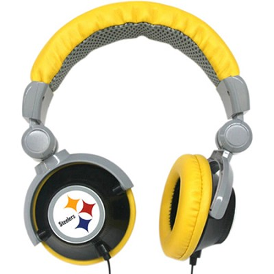NFL Football Licensed Pittsburgh Steelers DJ Style Headphones