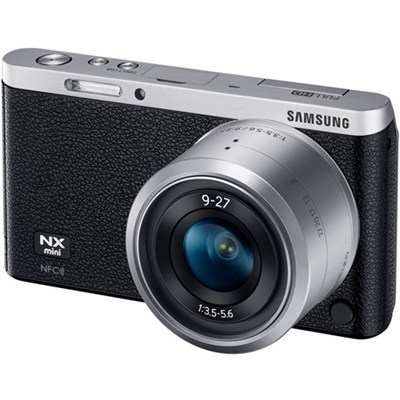 NX Mini Mirrorless Digital Camera with 9-27mm Lens and Flash - Black - OPEN BOX