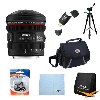 EF 8-15mm f/4L Fisheye USM Ultra-Wide Zoom Lens Exclusive Pro Kit