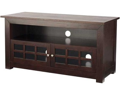 BFV146 - Hardwood 3-Shelf A/V Cabinet for TVs up to 46` (Chocolate Finish)