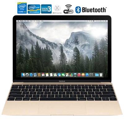 MacBook MK4N2LL/A 12` Laptop with Retina Display 512 GB, Gold - Refurbished