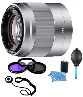 SEL50F18 - 50mm f/1.8 Telephoto E-Mount Lens with Filters and More