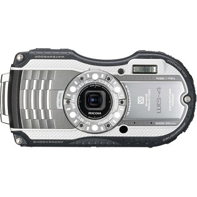 WG-4 16MP HD 1080p Waterproof Digital Camera - Silver - OPEN BOX