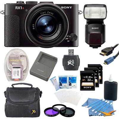 RX1R 24MP Cyber-Shot Full-frame 24.3MP Digital Camera Kit with HVLF60M Flash