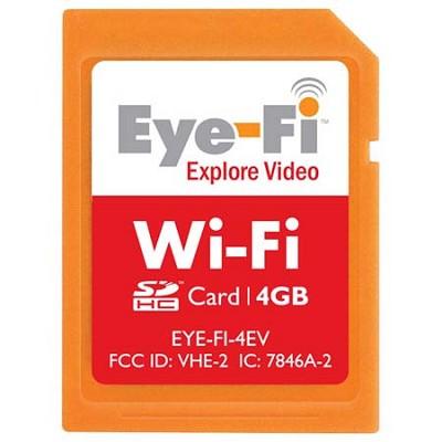 4GB Explore Video Wi-Fi Wireless SDHC Memory Card (EYE-FI-4EV)
