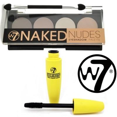 Naked Nudes Eyeshadow Palette 4 Neutral Shades & LashTastic Mascara Bundle